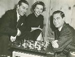 Nancy Davis (Reagan) Ray Milland John Hodiak Fletcher Markle chess schach ajedrez echecs